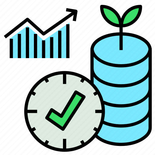 agriculture, clock, database, information, realtime icon