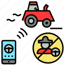 control, farming, future, remote, smart, tractor icon