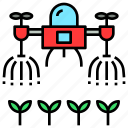 drone, farm, future, robot, spray, watering icon