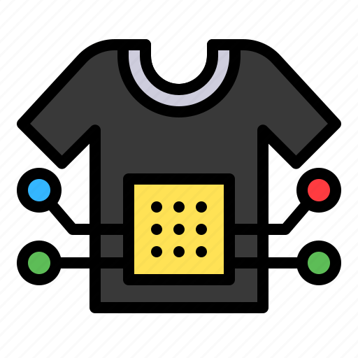 artificial intelligence, chip, gadget, shirt, technology icon