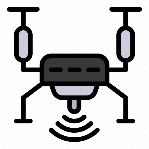 drone, fly, mobile, robot, technology icon