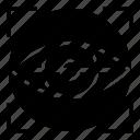 biometric, eye, iris, retinal scan, technology icon