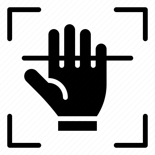 hand, personality, scan, sign, technology icon