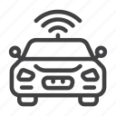 autonomous, car, future, smart, transport, wireless icon
