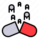 delivery system, medical, medicine, nanomachine, technology icon