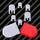 delivery system, drug, medicine, nanomachine, nanomedicine, technology icon