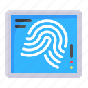device, fingerprint, scan, technology icon