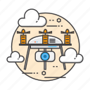 aerial, drone, drones, fly, surveillance, technology icon