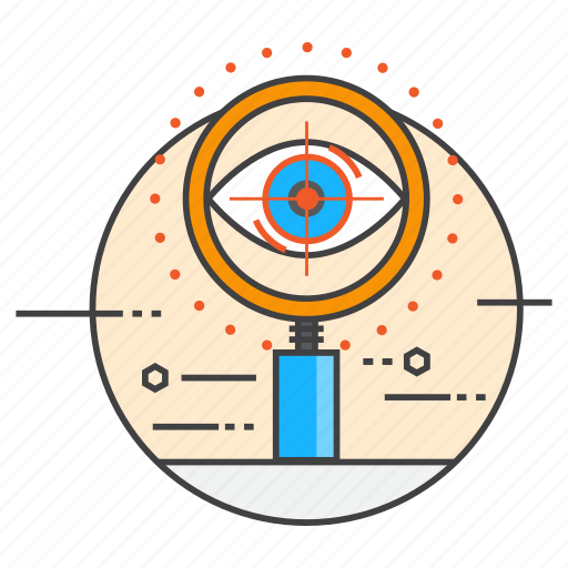 eye, profile, sight, technology, tracking, view icon
