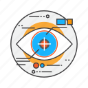 eye-tracking, eyetap, reality, robot, scan, scanning, science icon