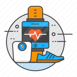fitband, fitness, fitness tracker, gym, health, run, smart watch icon