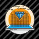 communication, computer, digital, hologram, modern, projection, technology icon