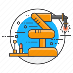 industrial, industry, machine, machinery, manufacture, robotica, robotics icon