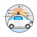 car, electric car, future concepts, gps, radar, satellite, self-driving car icon