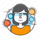 effectiveness, glasses, google glasses, information, smart, technology, wearable icon