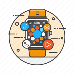 apple watch, internet of things, smart device, smart watch, smartwatch, technology, watch icon