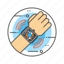 apple watch, interface, smart device, smart watch, wrist, wristwatch icon
