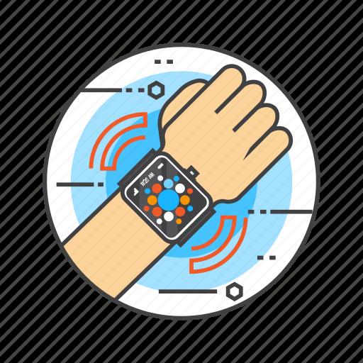 apple watch, interface, smart device, smart watch, wrist, wristwatch icon