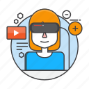 gaming, glasses, reality, virtual, virtual reality, vr, vr glasses icon