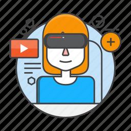 gaming, glasses, reality, virtual, virtual reality, vr, vr glasses icon