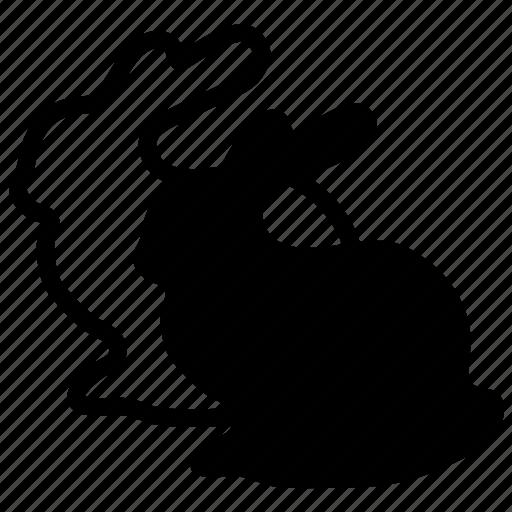 clone, copy, duplicate, mirror, rabbit, repeat, replication icon