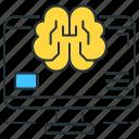 brain, computational, futuristic icon