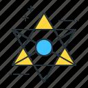 evil, futuristic, sign icon