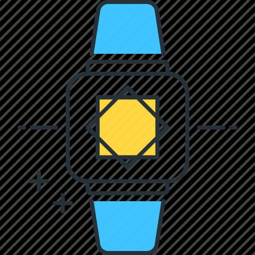 future, futuristic, watch icon