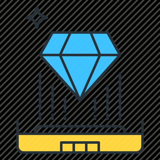 futuristic, hologram, technology icon