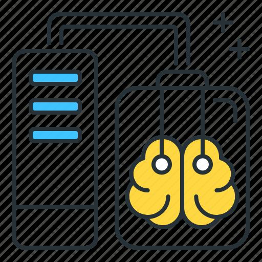 brain, futuristic, isolated icon