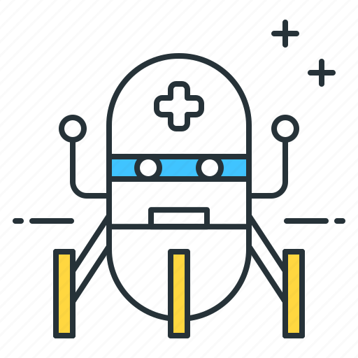 futuristic, medical, robot icon