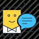 conversational, interfaces icon