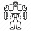 character, machine, robot, science, spaceman, toy, transformer icon