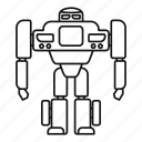 artificial, character, computer, friendly, robot, toy, transformer icon