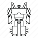 character, future, metal, robot, soldier, transformer, weapon icon