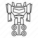 character, cyborg, element, fantasy, humanoid, robot, transformer icon