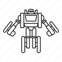 character, futuristic, robot, robotic, science, toy, transformer icon