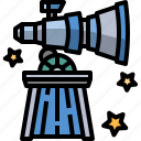 astronomy, galaxy, observatory, planetarium, science, space, telescope icon