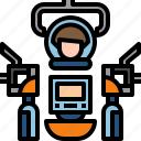 engineer, robot, technology icon