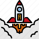 launch, rocket, sciene, shuttle, spaceship, transport icon
