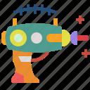 future, gun, alien, weapon, technology, machine, pistol icon