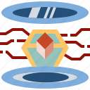 ar, augmented, future, hologram, innovation, technology icon