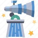 astronomy, galaxy, observatory, planetarium, science, space, telescope icon