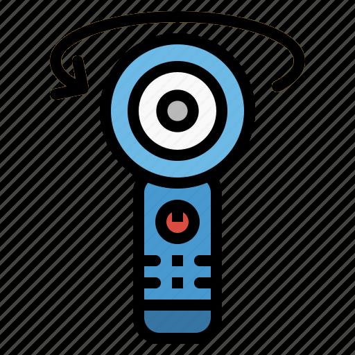 camera, degrees, video, view icon