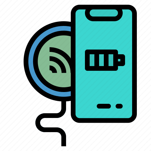 bluetoot, charging, smartphone, touch, wireless icon