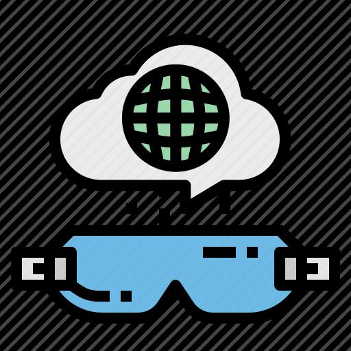 eye, glasses, google, technology, view icon
