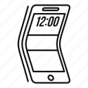 smart, screen, flexible, modern, adaptive, smartphone, communicator icon