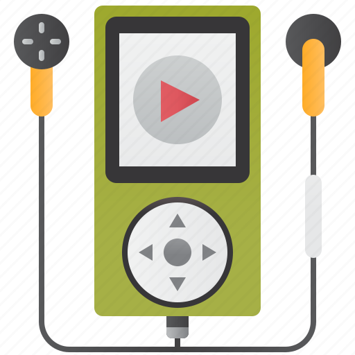 Earphone, mp3, musics, player, portable icon - Download on Iconfinder