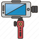 camera, handheld, selfy, smartphone, stabilizer icon