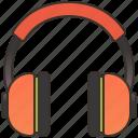 audio, headphones, headset, music, stereo icon